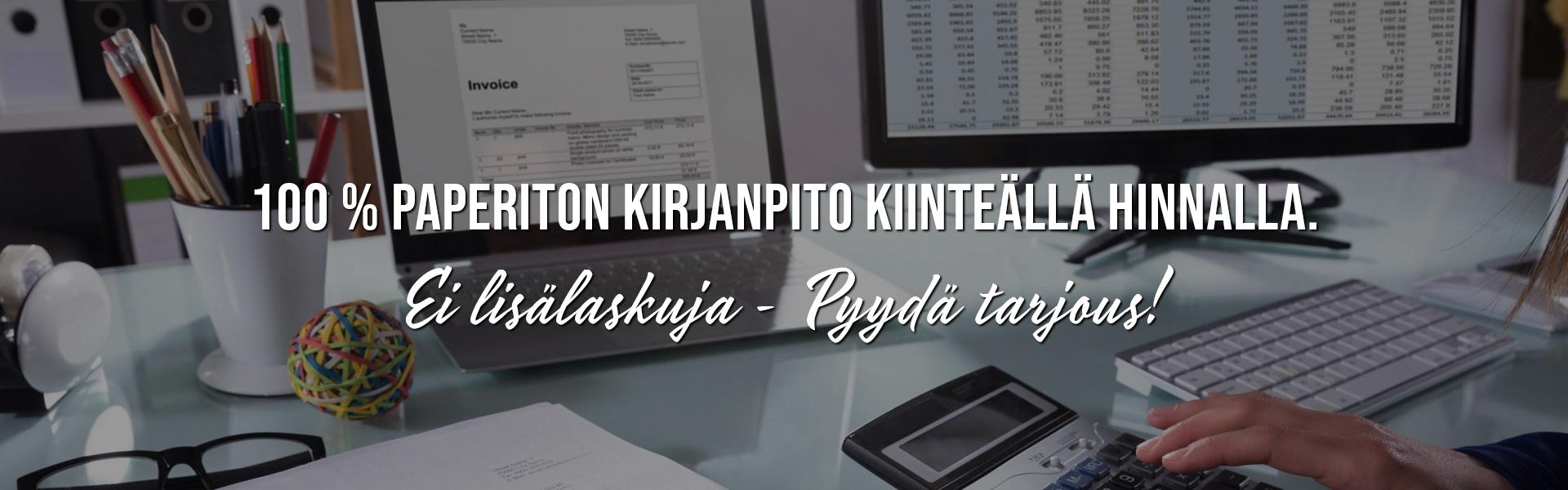 Paperiton kirjanpito kiinteällä kk-hinnalla |Yrityspalvelut Hakanen - Tampere